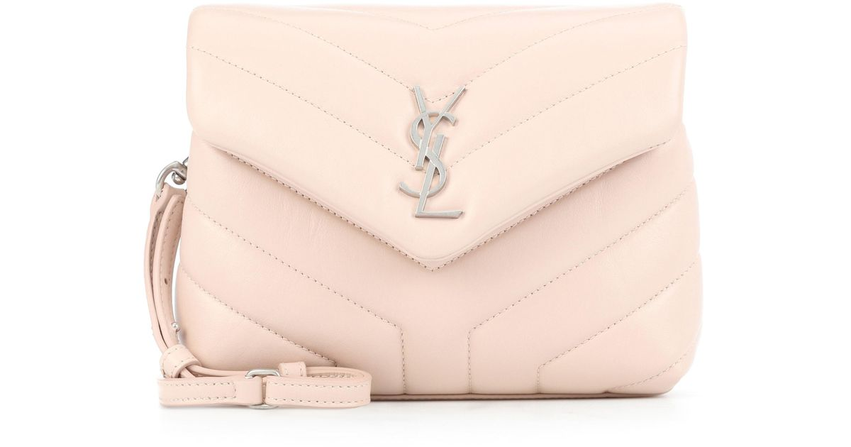 0c56af09e8 Saint Laurent Toy Loulou Leather Shoulder Bag in Pink - Lyst