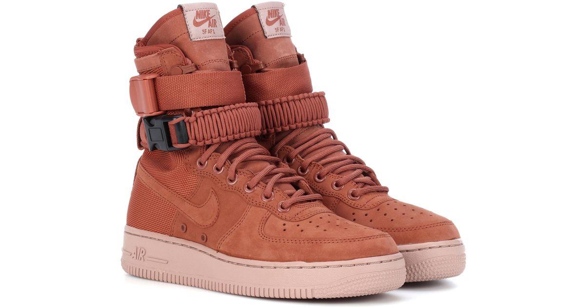 plus de photos 6855d 1f67a Nike Brown Sf Air Force 1 Suede Sneakers