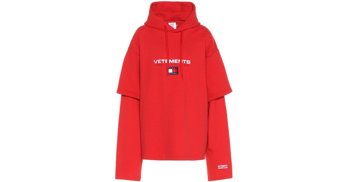 Sweat shirt en coton mélangé x Tommy Hilfiger Vetements en coloris Red