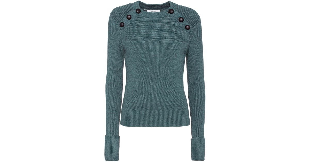 étoile Isabel Marant Blue Koyle Cotton And Wool Sweater