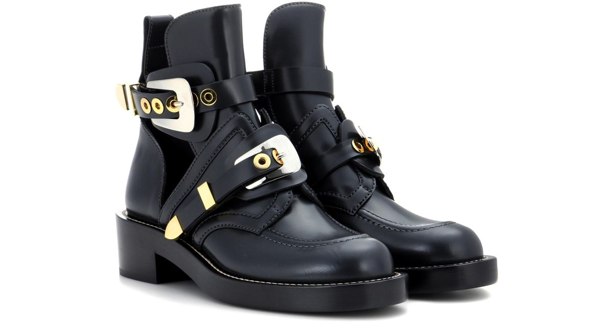 Balenciaga Ceinture leather derby boots classic cheap price clearance recommend clearance get to buy best prices for sale free shipping looking for wFjlHxvtw