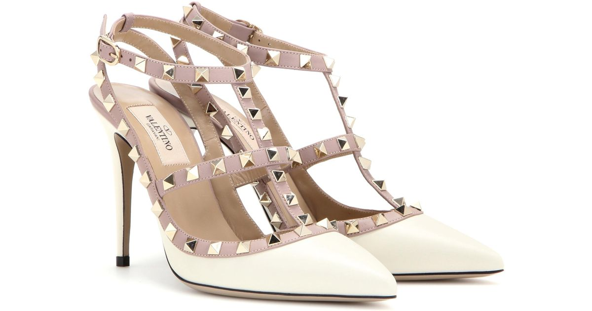 Valentino Rockstud Leather Pumps in
