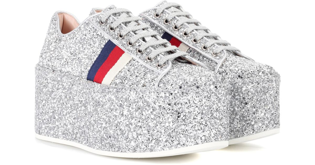 Glitter platform sneakers Gucci 7KOY8cyH
