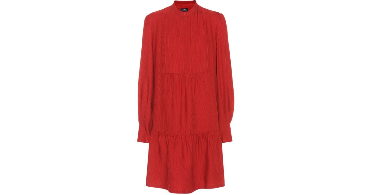 Jones wool and silk-blend dress A.P.C. N1e4V