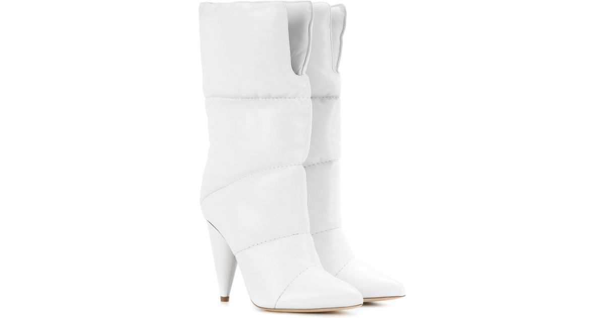 0e3f66c932b1 Lyst - Jimmy Choo X Off-white Sara 100 Leather Boots in White