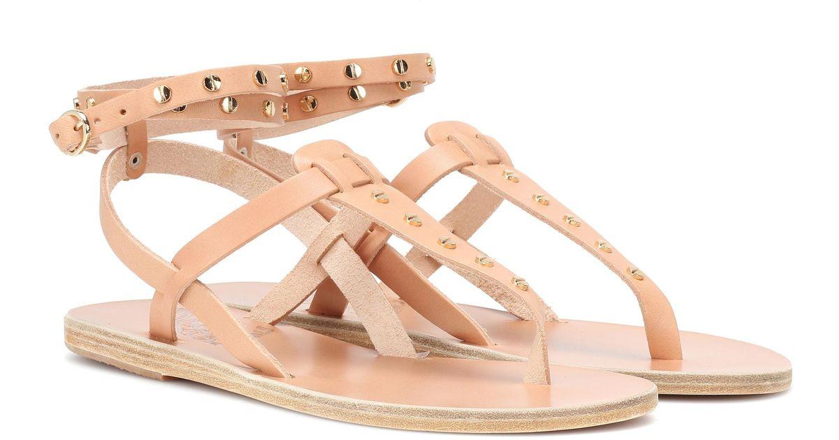 Greek Multicolor Estia Ancient Sandals Leather Nails 3AR5j4qL