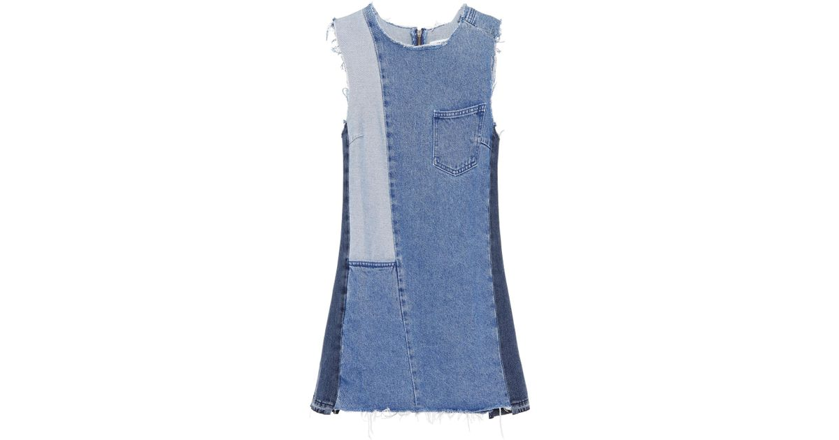 Footaction Factory Outlet For Sale Hilary cotton denim dress GRLFRND Free Shipping Classic Clearance Official Site Cheap With Credit Card ceQl9
