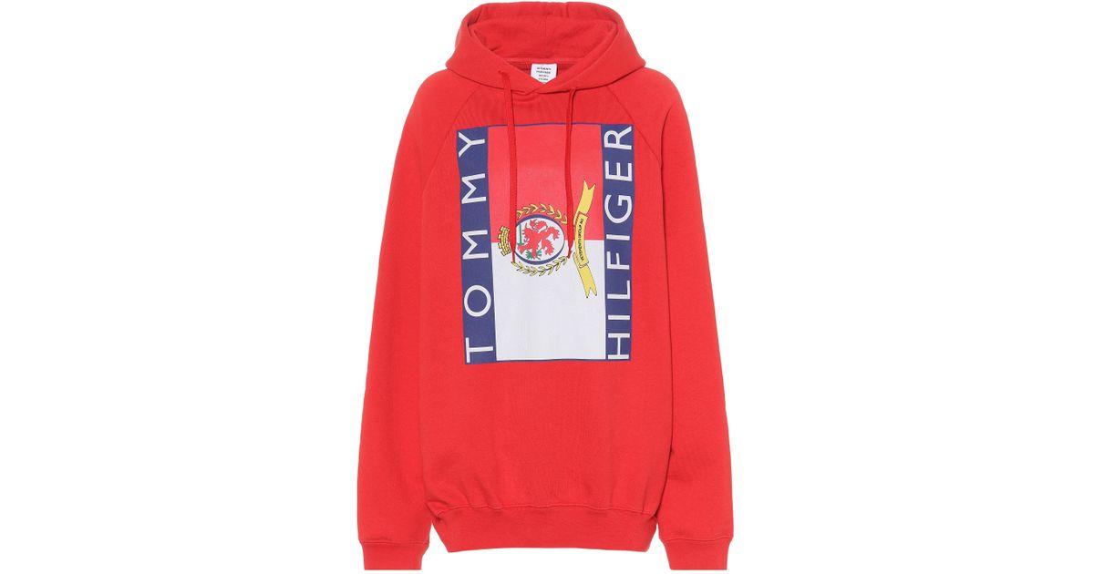 x Tommy Hilfiger Oversized Raglan Hoodie, VETEMENTS