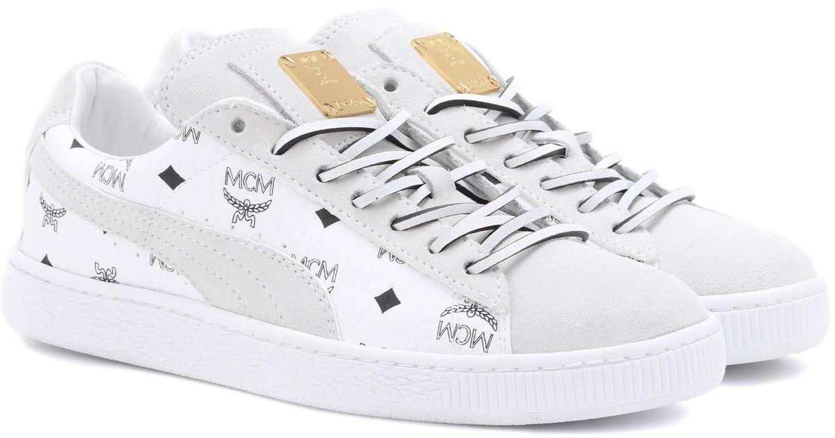 finest selection 5a738 b804c PUMA White X Mcm Suede Classic Sneakers