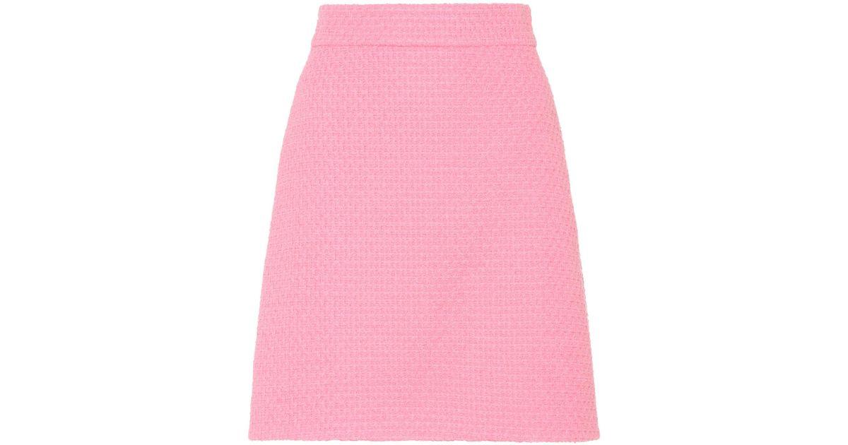 db4f7b17 Gucci - Pink Tweed Skirt - Lyst