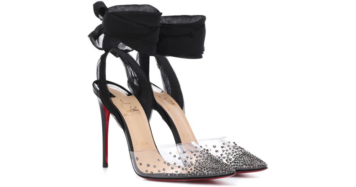 chaussures de sport da435 d4ce8 Escarpins transparents cloutés Miragirl 100 Christian Louboutin en coloris  Black