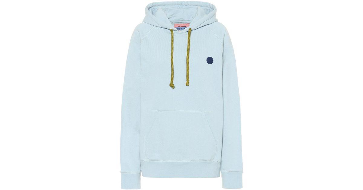 Acne Studios Blå Konst Hooded Cotton Sweatshirt in Blue - Lyst db29005768