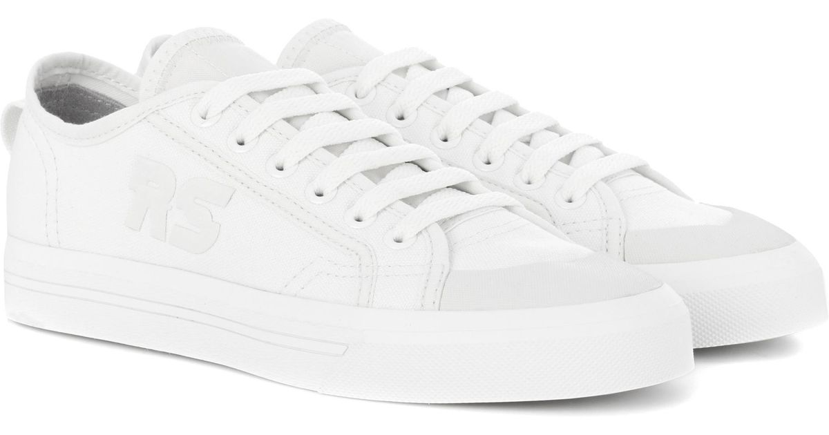 on sale 8163d 8729f adidas By Raf Simons Spirit Low Canvas Sneakers in White - Lyst