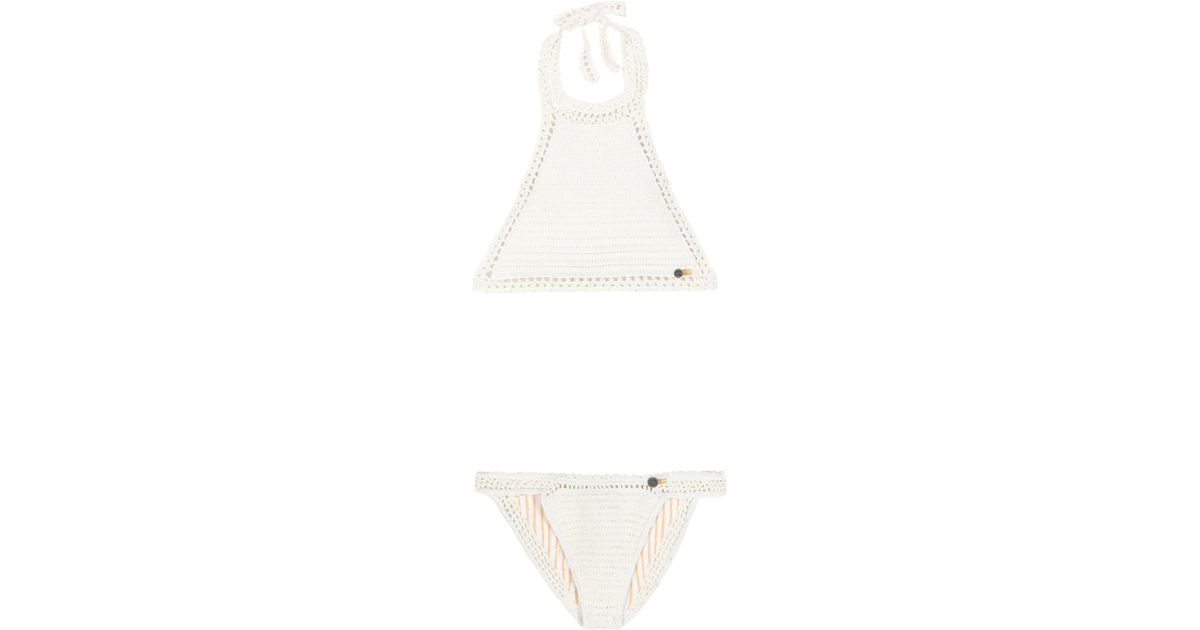 fca23cb33a Lyst - She Made Me Essential Crochet Bikini in White