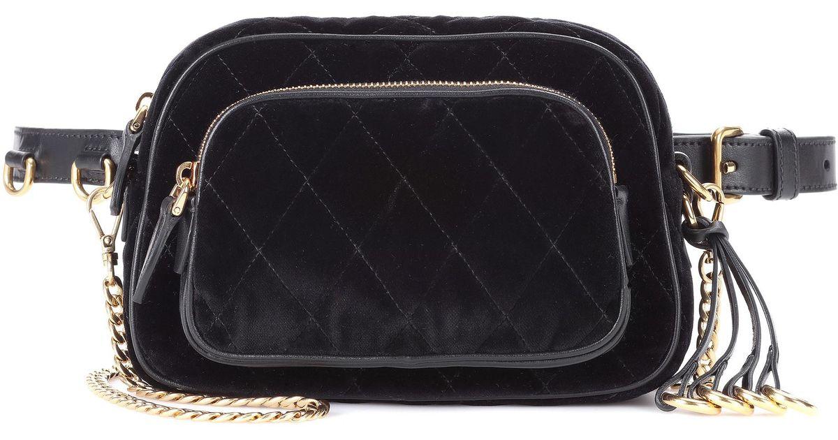 636c3afc04c5 ... new zealand lyst prada velvet belt bag in black 7c970 b51d5