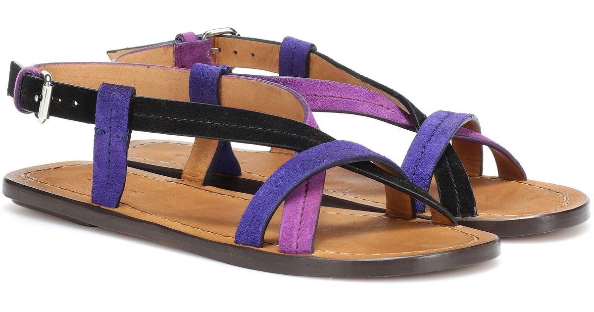 Sandales En Coloris Lyst Jalmee Violet Daim Isabel Marant USMpzjLVqG