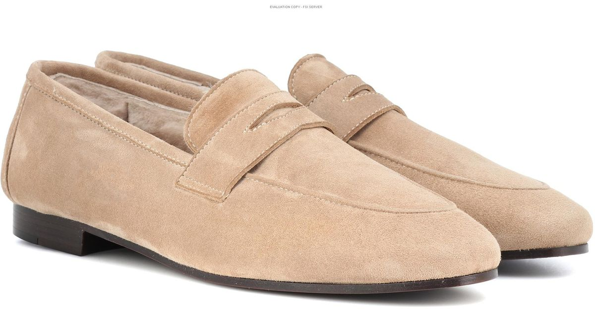 76702197238 Bougeotte Exclusive To Mytheresa – Classic Shearling-lined Loafers in  Natural - Lyst