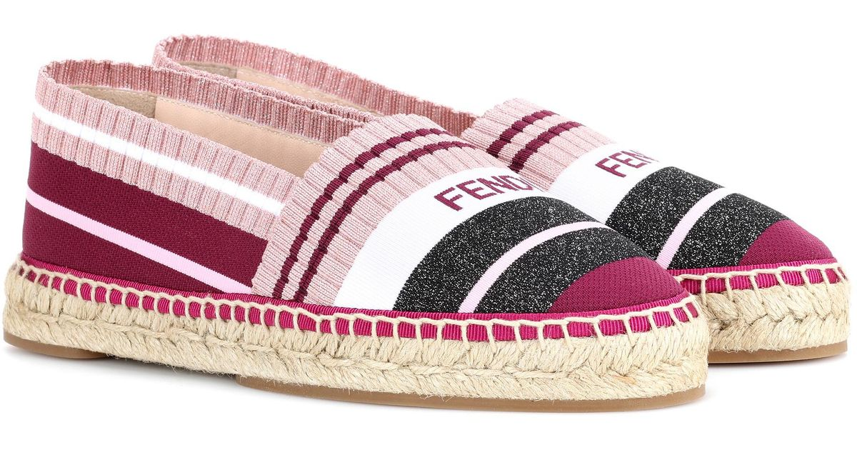 Quality From China Cheap Outlet Great Deals Fendi Printed jersey espadrilles Cheap Sale Low Shipping 2018 Newest For Sale Free Shipping Deals OTWYvJJfZ