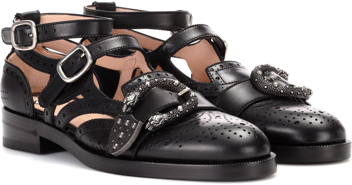 Queercore Brogue Monk Shoes in Black
