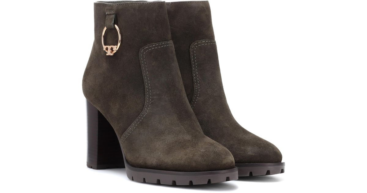 Tory Burch Sofia Suede Ankle Boots in