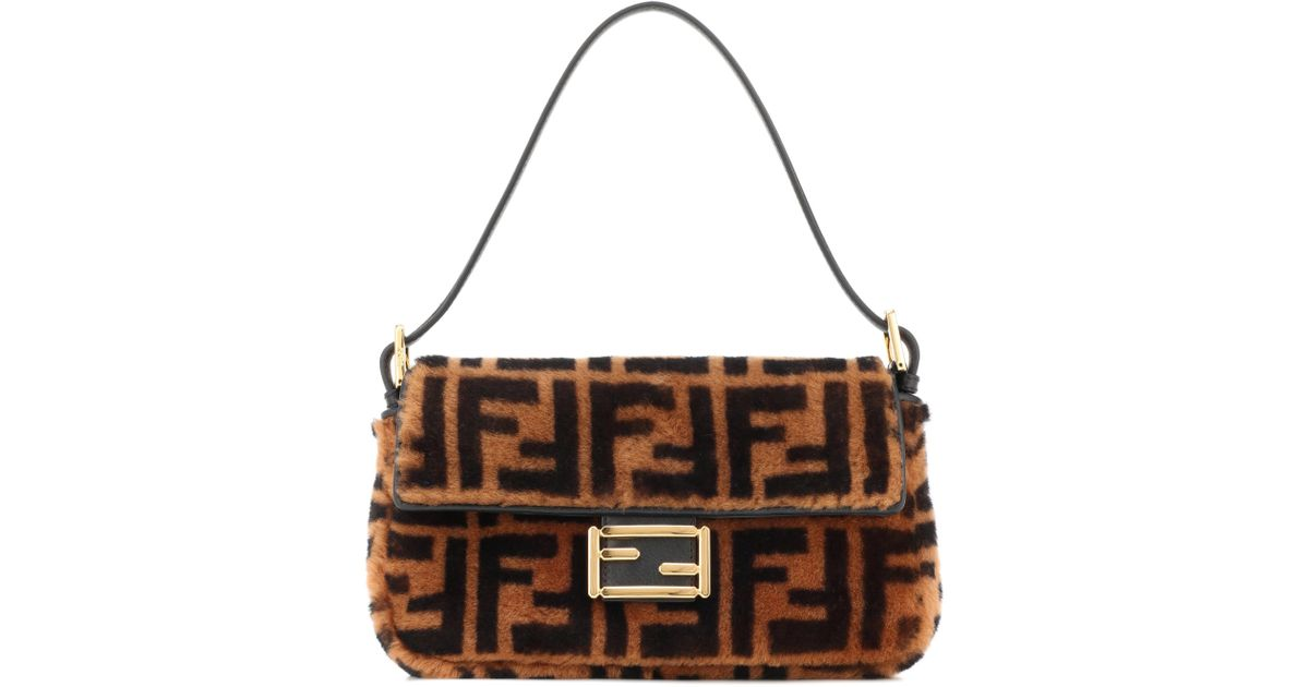 Lyst - Fendi Baguette Sheepskin Bag In Brown in Brown d7eb326161f2c