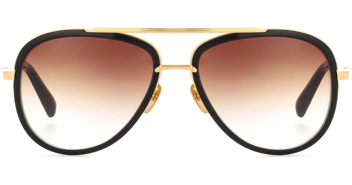 144816dc8d78 Lyst - Dita Eyewear Mach Two 18kt Gold-plated Acetate Sunglasses in Black
