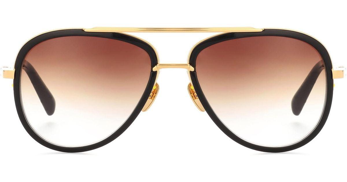 f2807ab3c687b Lyst - Dita Eyewear Mach Two 18kt Gold-plated Acetate Sunglasses in Black