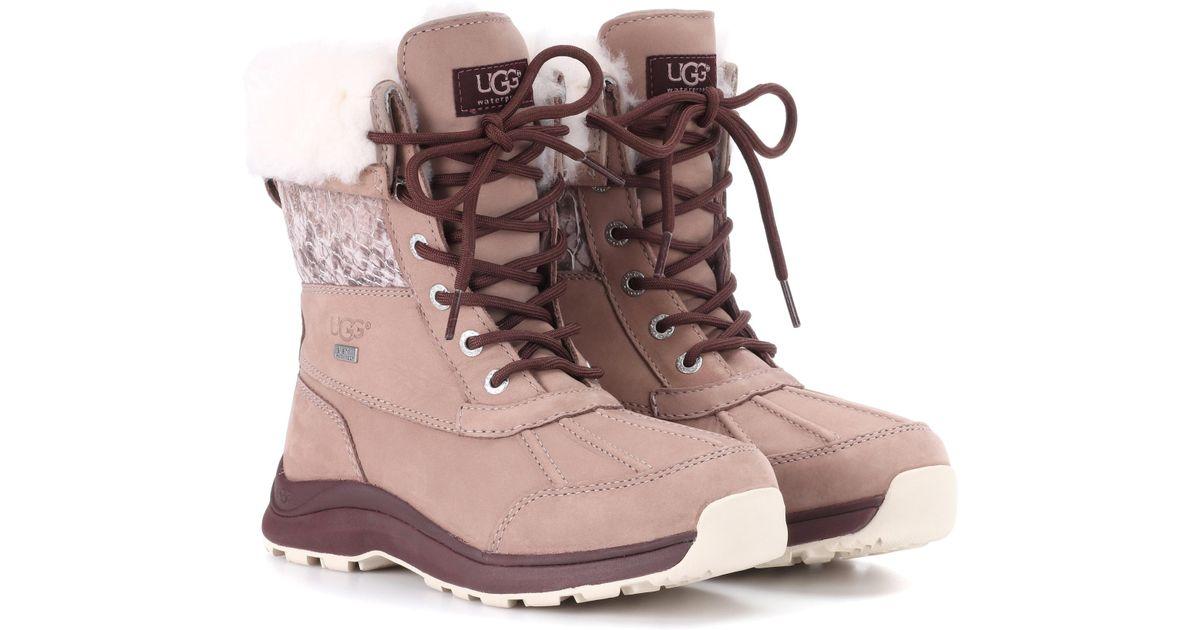 1eec833ab51 Ugg Brown Adirondack Iii Snake Boots
