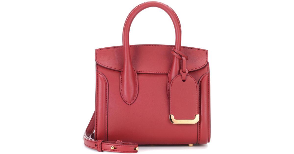 8d3833c45e54 ... Alexander Mcqueen E 21 Leather Crossbody Bag In Red Lyst sale retailer  73577 e6673 ...