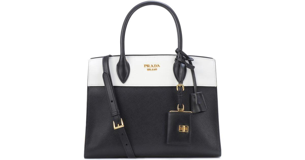 55f4ecf16157 Prada Paradigme Saffiano Leather Tote in Black - Lyst