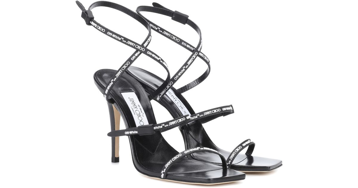 Jane Leather Sandals in Black