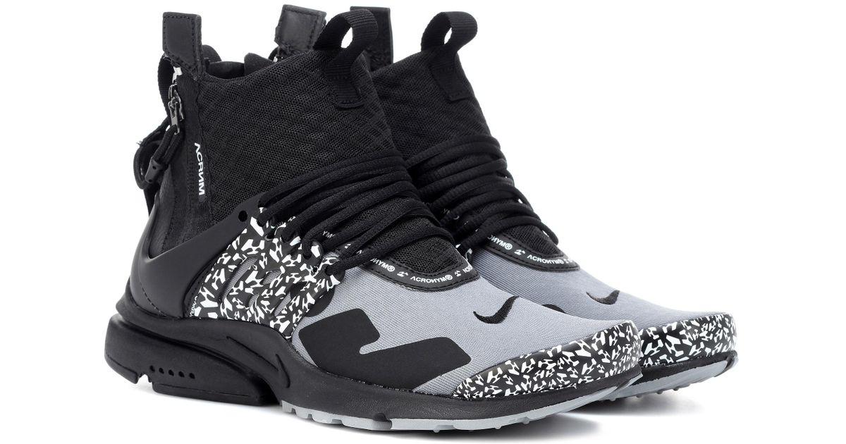 Zapatillas Air Presto Mid Acronym Nike de color Black