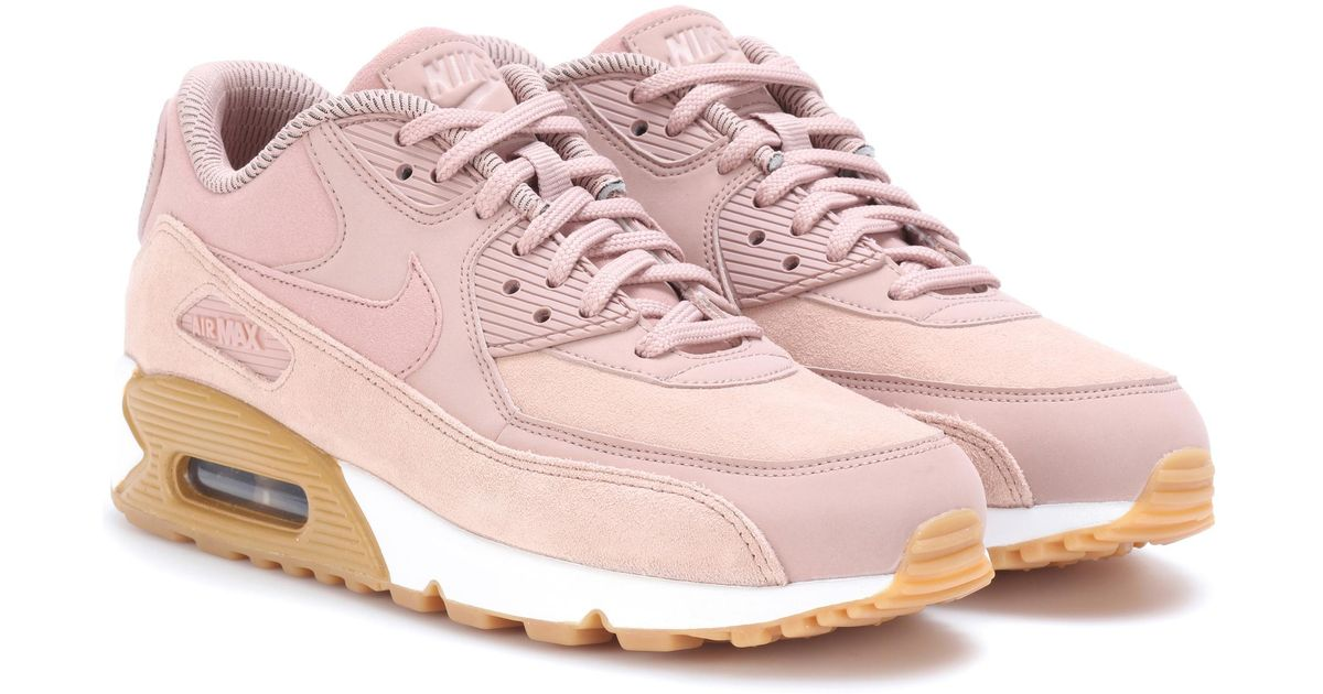 Lyst - Nike Air Max 90 Se Leather Sneakers in Pink f29b45dfb