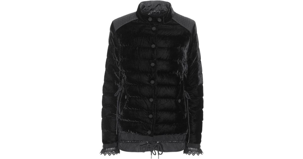 402dd0b35 Moncler Black Beatrice Velvet Down Coat