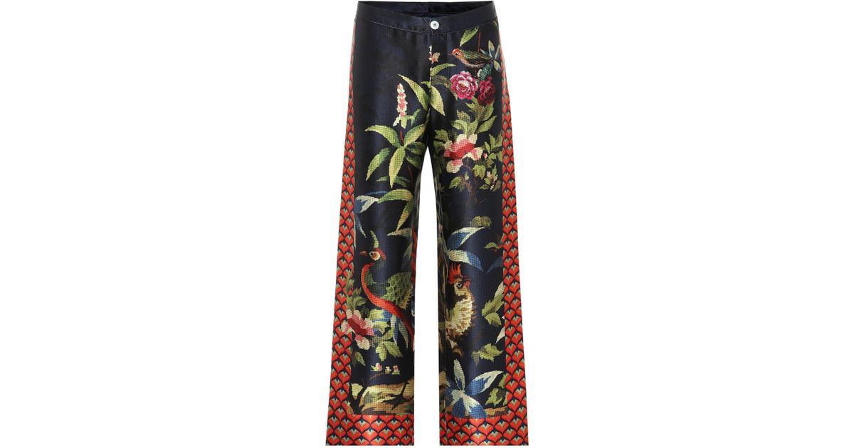 9a65d6494 Lyst - F.R.S For Restless Sleepers Ceo Printed Silk Pajama Pants