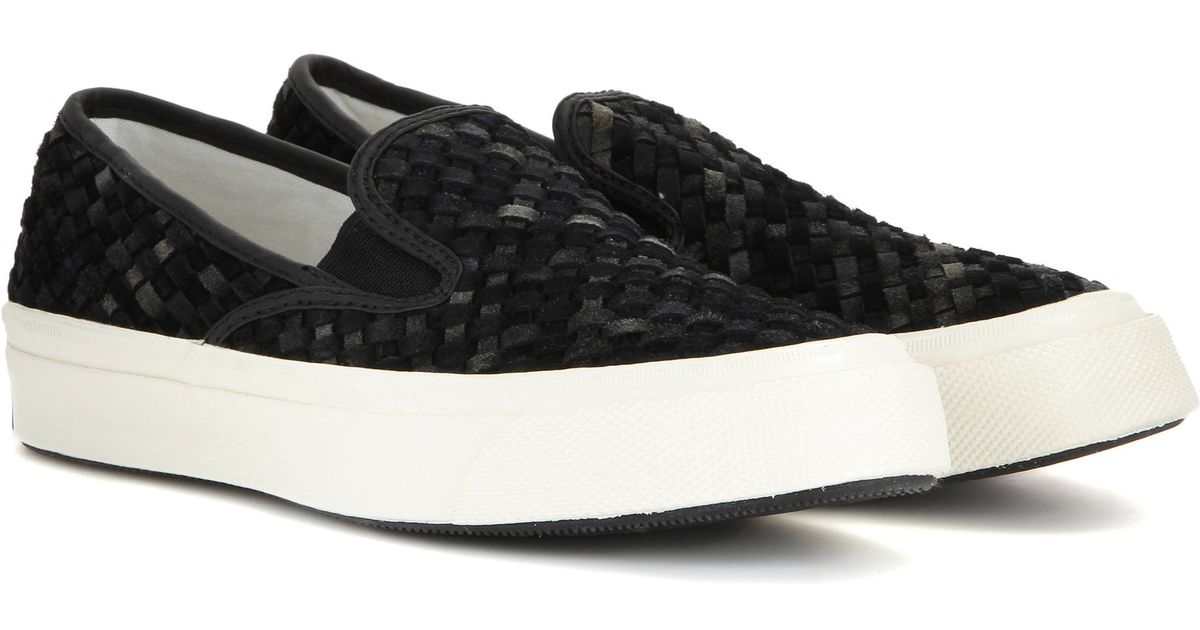 9a32782e387a Converse Deck Star 67 Suede Slip-on Sneakers in Black - Lyst