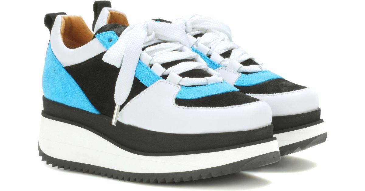 75e6a134a1ba Lyst - Ganni Naomi Suede Platform Sneakers in Black