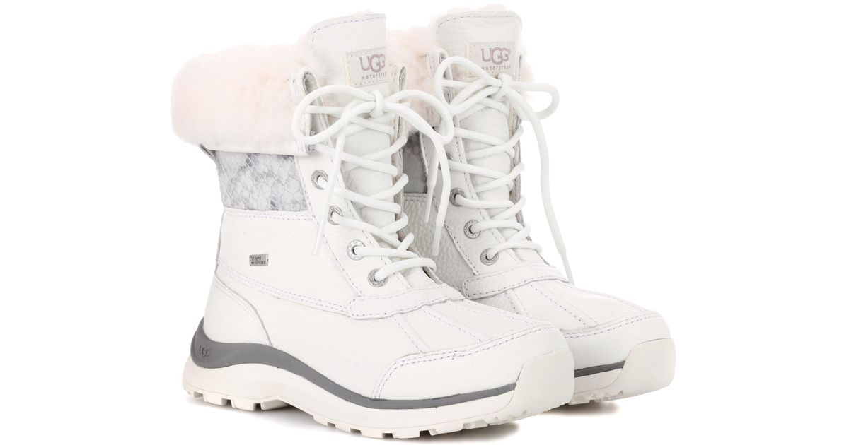 f1992eb3ae5 Ugg White Adirondack Iii Leather Boots
