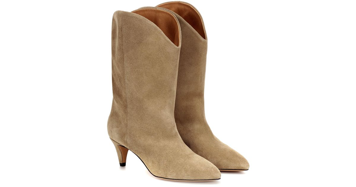 8d05072881 Isabel Marant Dernee Suede Ankle Boots in Brown - Lyst