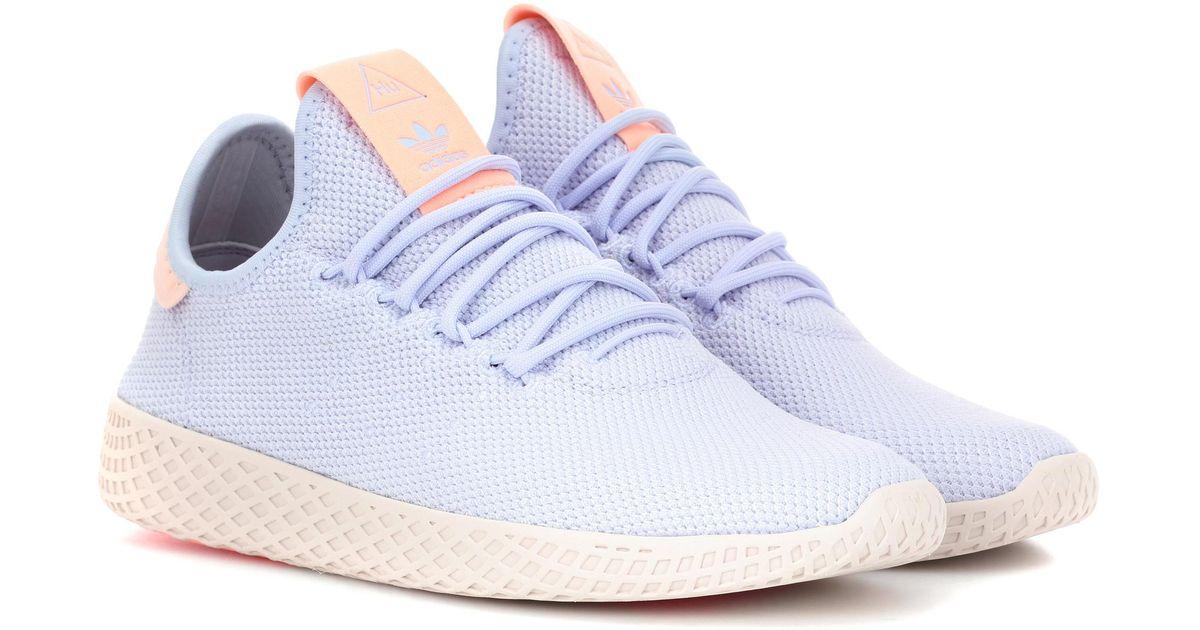d7e0133acd868 adidas Originals Pharrell Williams Tennis Hu Sneakers in Blue - Lyst