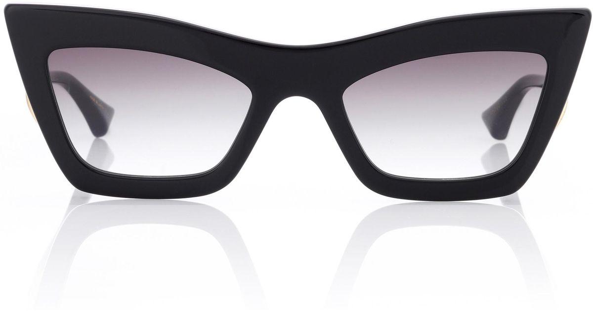 deca6a52d50 Dita eyewear erasur cat eye sunglasses in black lyst jpg 1200x630 Dita cat  eye glasses