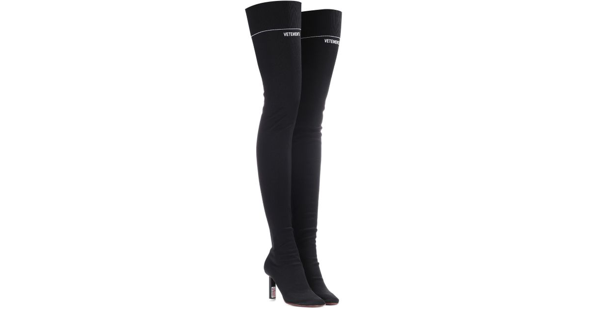 Vetements Stretch-jersey over-the-knee boots FSmhzC