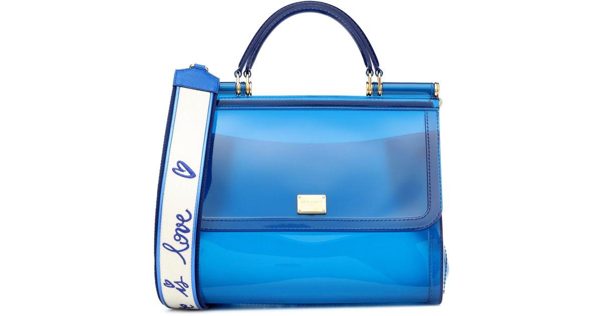 0a885ab496 Lyst - Dolce   Gabbana Transparent Sicily Shoulder Bag in Blue