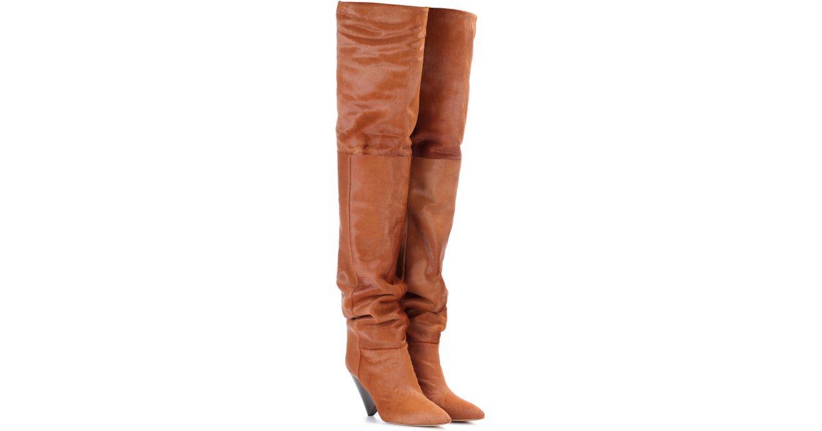 796945b6627 Lyst - Isabel Marant Lostynn Calf-hair Boots in Brown