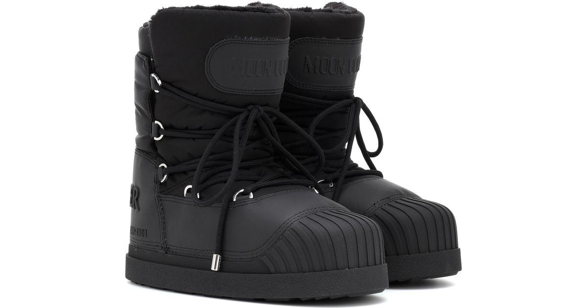 914f79d37ff Moncler Black X Moon Boot® Uranus Ankle Boots