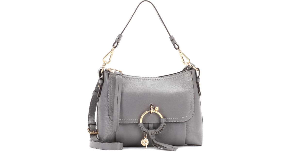 See Cross En Joan By Coloris Chloé Sac Cuir Gray Small Body yNO80wPmnv