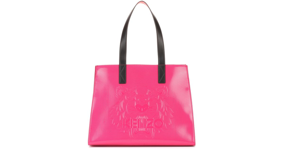 Lyst - Kenzo Tiger Pink Tote in Pink 0dc96a3429e9f
