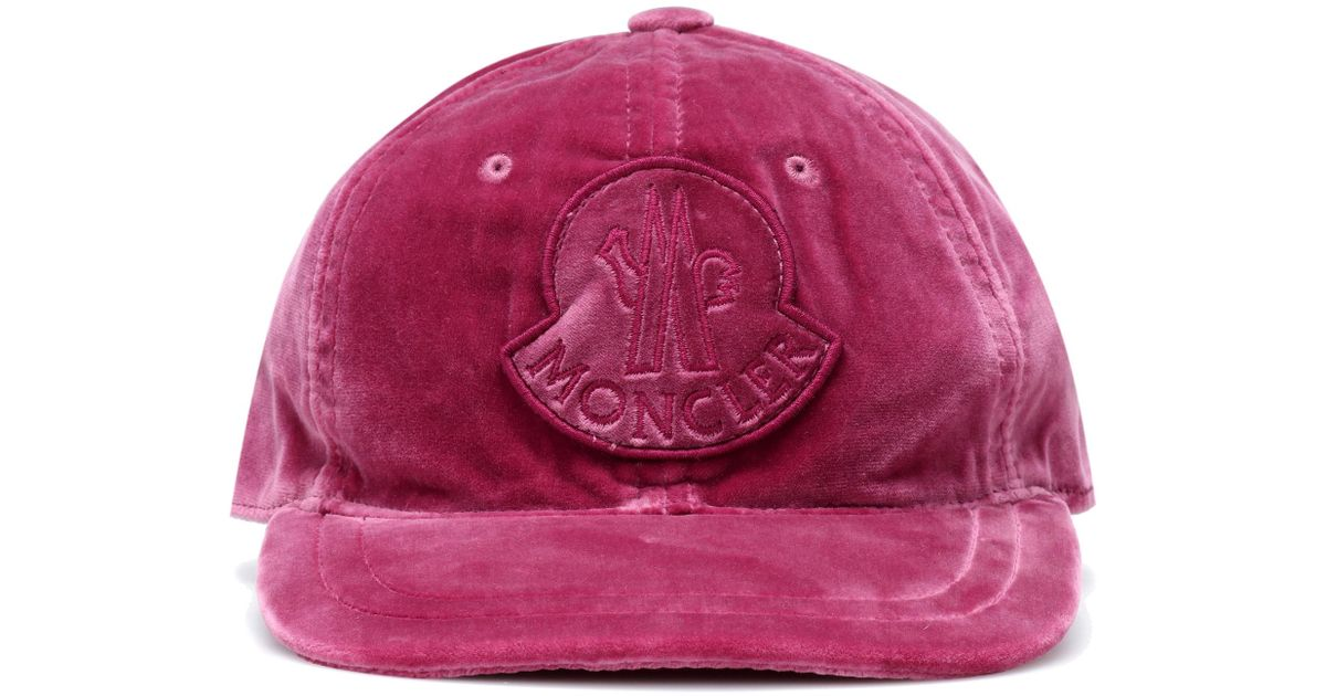 b812d502e7e Lyst - Moncler Pink Velvet Cap in Pink - Save 32%
