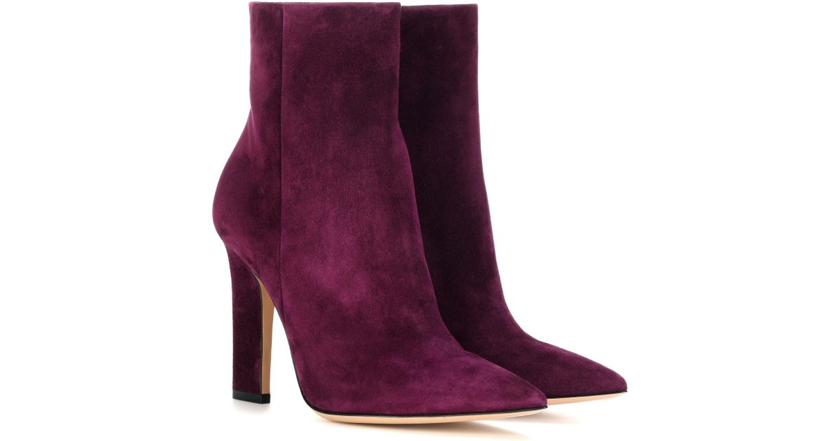 Gianvito Rossi Daryl suede ankle boots eDraef