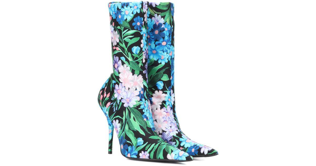 Balenciaga Knife Floral-printed Ankle
